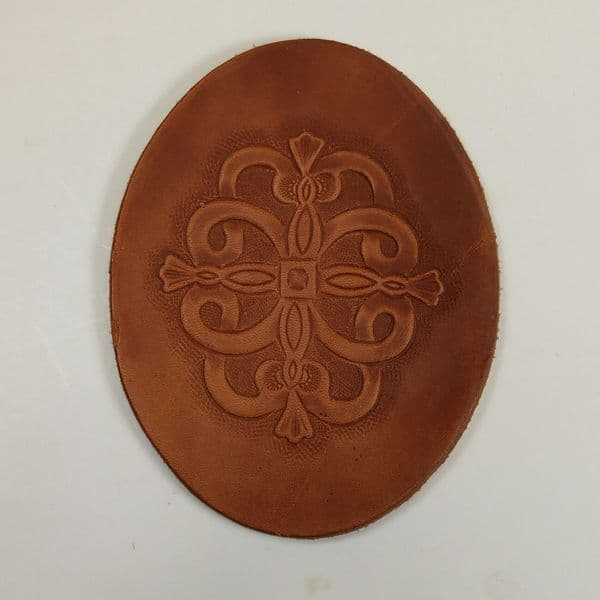Leather  `shields` for decorating quivers etc